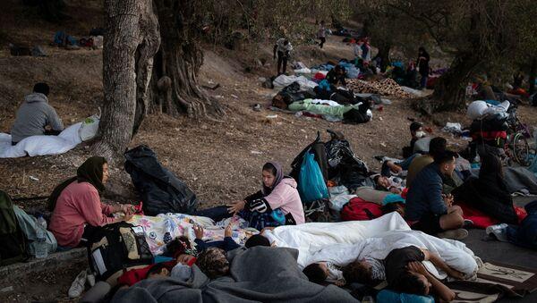 Refugiados del campo de Moria - Sputnik Mundo