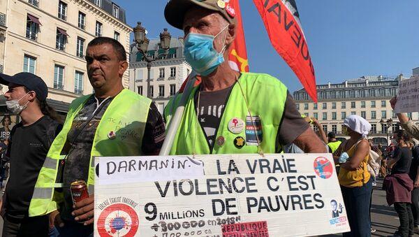 Protestas de los 'chalecos amarillos' en París - Sputnik Mundo