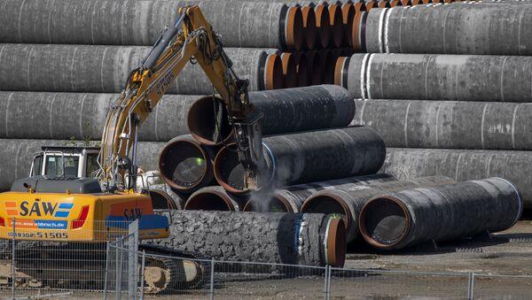 Tuberías del gasoducto Nord Stream 2 en Alemania - Sputnik Mundo