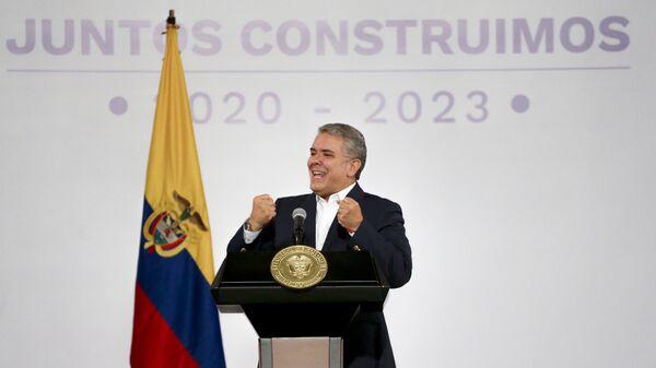 Iván Duque, presidente de Colombia - Sputnik Mundo