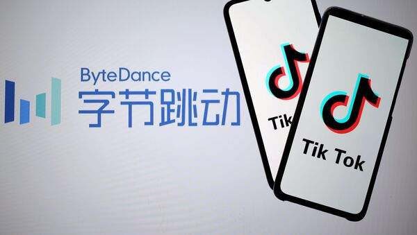 Logos de ByteDanc y TikTok - Sputnik Mundo
