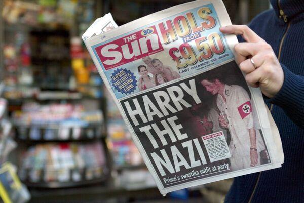 Portada de The Sun del príncipe Harry - Sputnik Mundo