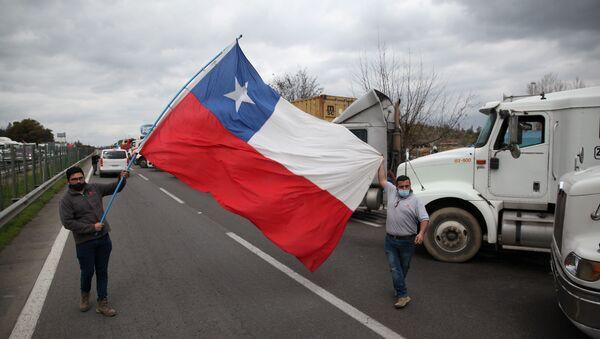 Huelga de camioneros en Chile - Sputnik Mundo