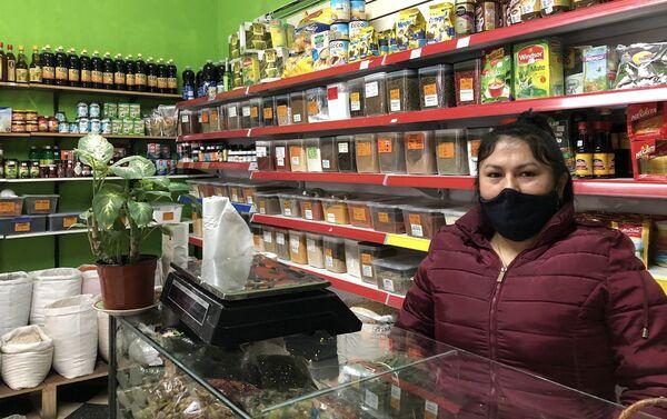 Sarita Figueroa, dueña de un local de alimentos y residente en Argentina desde hace nueve años. - Sputnik Mundo