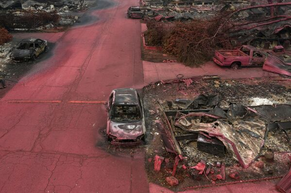 Viaje al apocalipsis: las llamas avanzan en Oregón  - Sputnik Mundo
