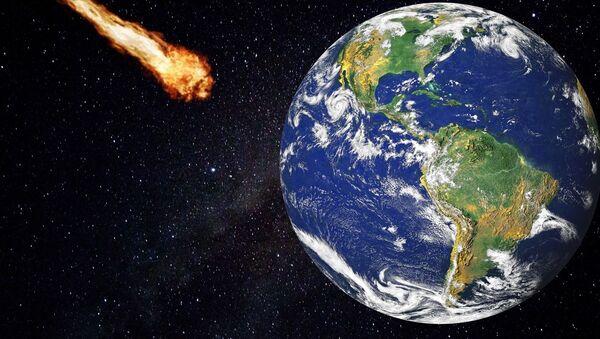 Un meteorito a punto de impactar contra la Tierra - Sputnik Mundo