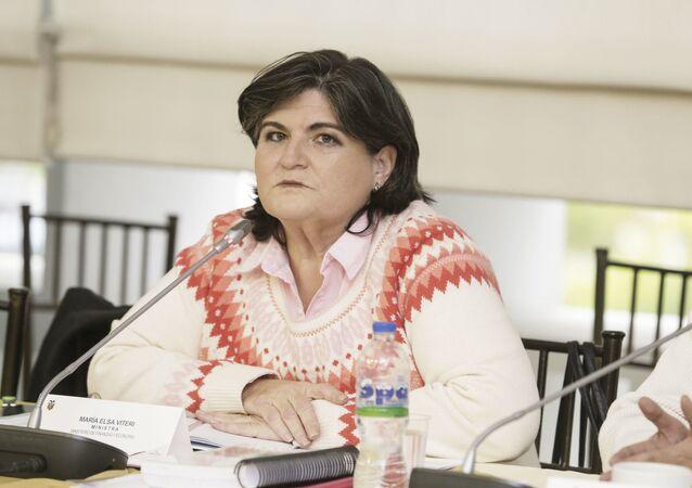 María Elsa Viteri, exministra de Finanzas de Ecuador