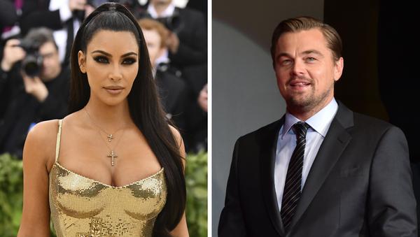Kim Kardashian y Leonardo DiCaprio, celebridades de EEUU - Sputnik Mundo