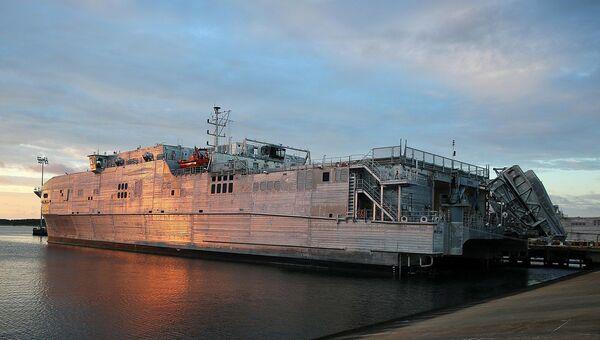 El buque logístico de alta velocidad USNS Yuma (T-EPF-8) de la Armada de EEUU - Sputnik Mundo