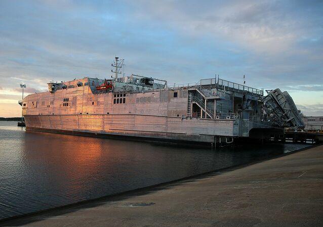 El buque logístico de alta velocidad USNS Yuma (T-EPF-8) de la Armada de EEUU