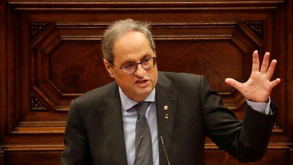 Quim Torra, el presidente de la Generalitat de Cataluña - Sputnik Mundo