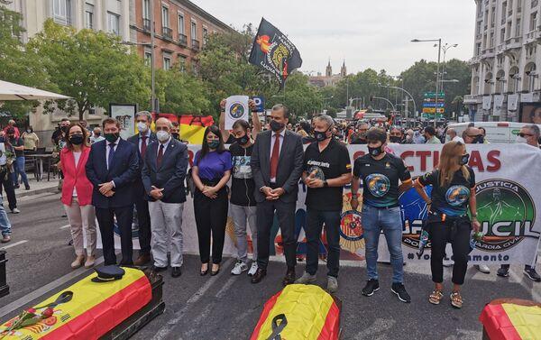 Representantes de la oposición apoyan la concentración de la policía española - Sputnik Mundo