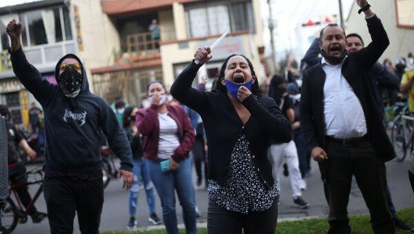 Protestas en Colombia (Archivo) - Sputnik Mundo