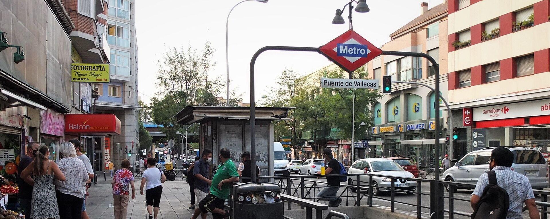 Entrada al metro en Puente de Vallecas - Sputnik Mundo, 1920, 18.09.2020