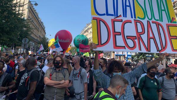 Una manifestación de los sindicatos franceses - Sputnik Mundo