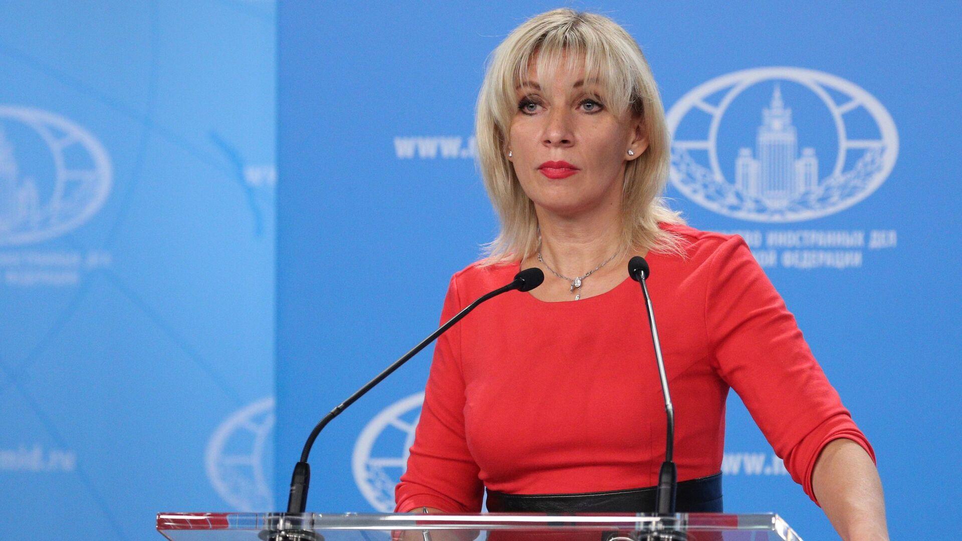 La portavoz del Ministerio ruso de Exteriores, María Zajárova. - Sputnik Mundo, 1920, 26.03.2021