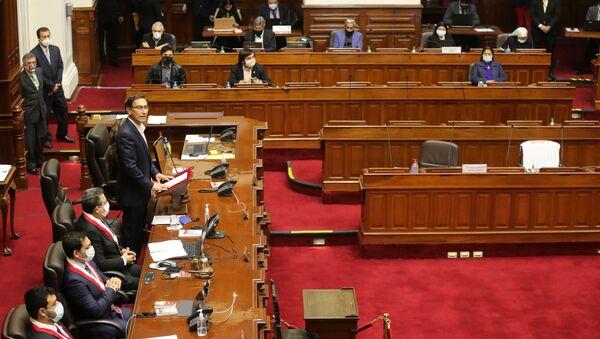 Martín Vizcarra, presidente de Perú, en el Congreso - Sputnik Mundo
