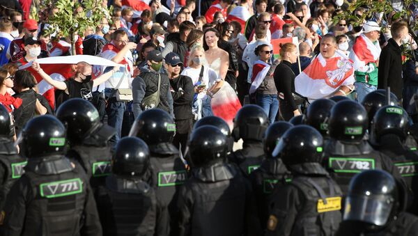 Protestas antigubernamentales en Minsk - Sputnik Mundo