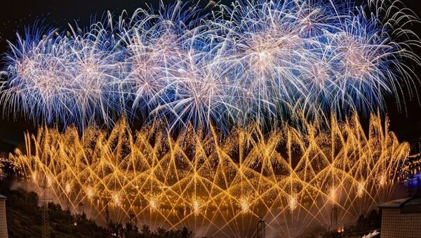 Fuegos Artificiales del Festival Rostec (archivo) - Sputnik Mundo