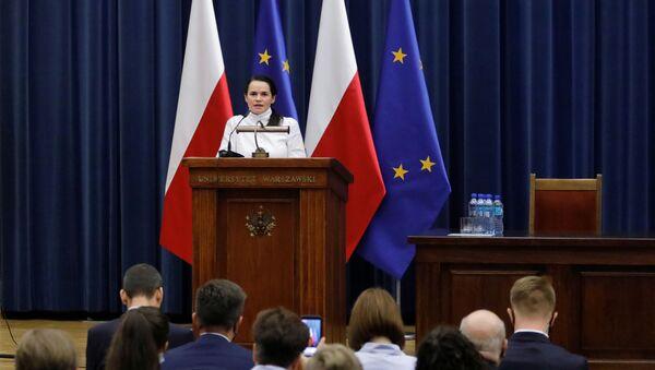 Svetlana Tijanóvskaya, líder opositora bielorrusa - Sputnik Mundo
