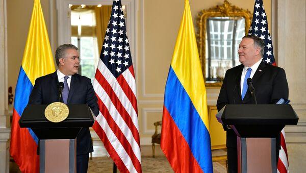 La visita del secretario de Estado de EEUU Mike Pompeo a Colombia - Sputnik Mundo