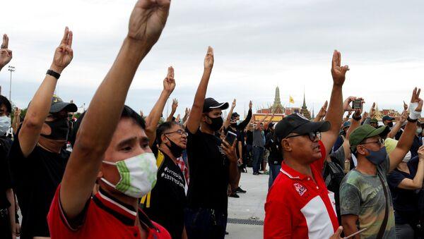Protestas en Bangkok, Tailandia - Sputnik Mundo
