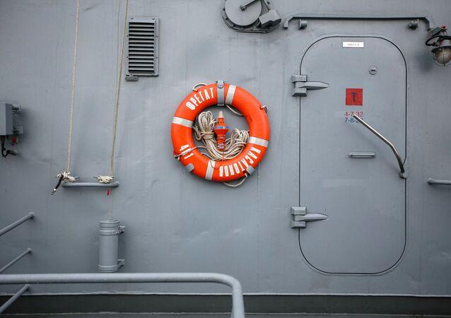 Un buque de la Flota rusa durante el ejercicio Kavkaz 2020
