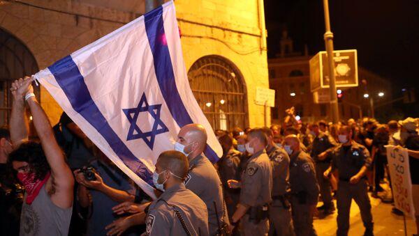 Protestas contra el primer ministro israelí, Benjamin Netanyahu - Sputnik Mundo