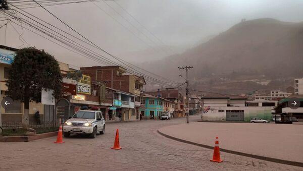 Ceniza del volcán Sangay en Ecuador - Sputnik Mundo