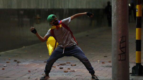 Enfrentamientos en Bogotá - Sputnik Mundo