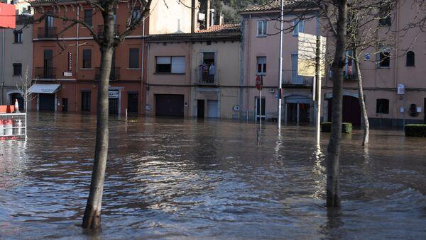 Imagen referencial de una tormenta en Girona (Cataluña) - Sputnik Mundo