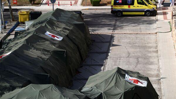 Un hospital militar en Madrid - Sputnik Mundo