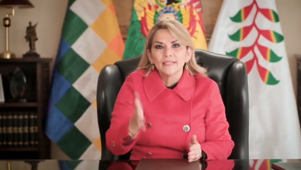 Jeanine Áñez en el Debate General del 75 periodo de sesiones de la Asamblea General de la ONU - Sputnik Mundo