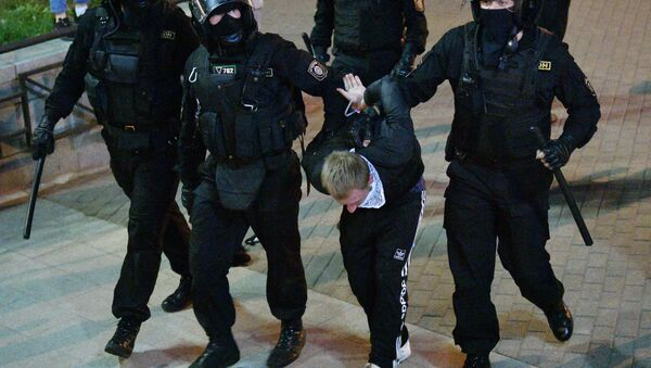 Detenciones durante las protestas en Minsk, Bielorrusia - Sputnik Mundo