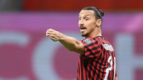 Zlatan Ibrahimovic, delantero sueco del AC Milan - Sputnik Mundo