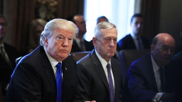 Donald Trump y James Mattis en 2017 - Sputnik Mundo