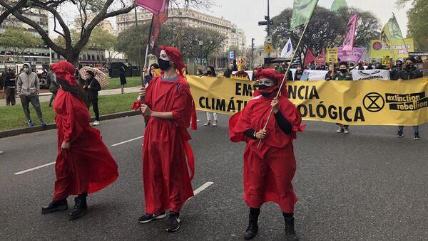 Marcha de Fridays for Future en Argentina - Sputnik Mundo