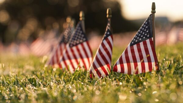 Banderas de EEUU en la Explanada Nacional de Washington, en conmemoración de los fallecidos por el coronavirus (archivo) - Sputnik Mundo