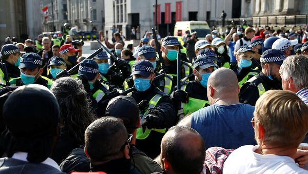 Protestas en Londres (archivo) - Sputnik Mundo