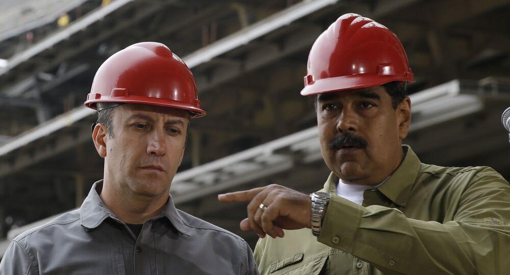 El presidente de Venezuela, Nicolás Maduro, y el ministro de Petróleo, Tareck El Aissami, visitan la Rinconada