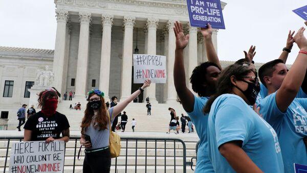 El mitin en las afueras de la Corte Suprema de Washington DC - Sputnik Mundo
