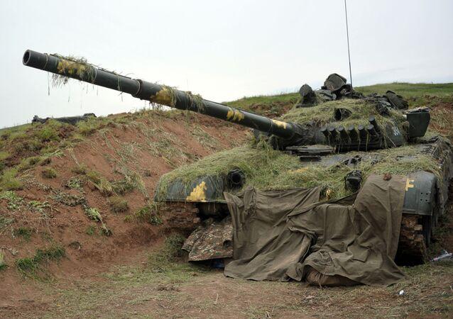 Un tanque de Nagorno Karabaj (archivo)