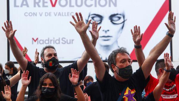 Protesta en Vallecas  - Sputnik Mundo