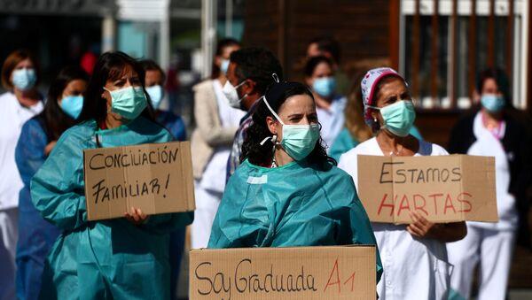 Crisis sanitaria en España durante el rebrote del coronavirus - Sputnik Mundo