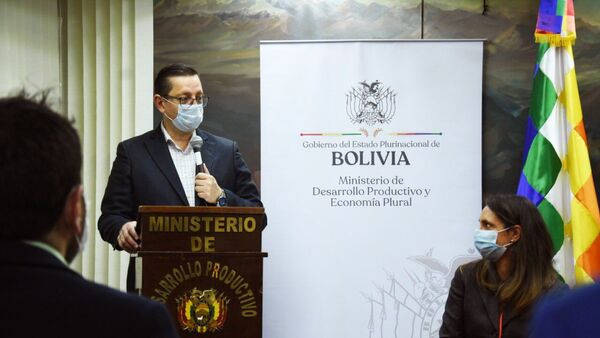 Óscar Ortiz, ministro de Economía de Bolivia - Sputnik Mundo
