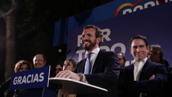 Pablo Casado tras las elecciones de noviembre de 2019 - Sputnik Mundo