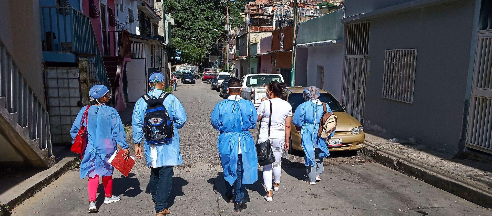 Visita casa por casa de médicos y enfermeros del CDI María del Mar Álvarez - Sputnik Mundo, 1920, 28.09.2020