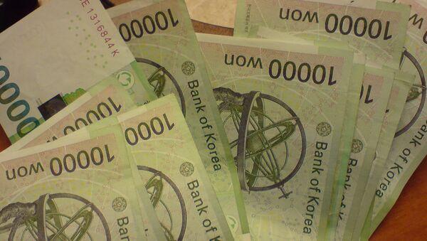 Billetes de wones surcoreanos - Sputnik Mundo