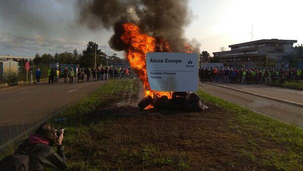 Protestas el 29 de septiembre en la planta de Alcoa en Galicia - Sputnik Mundo