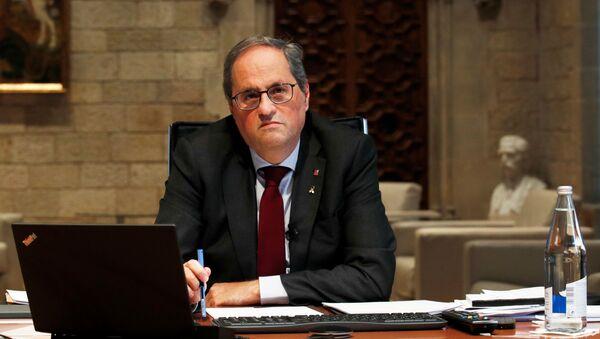 Quim Torra, el presidente de Cataluña inhabilitado - Sputnik Mundo